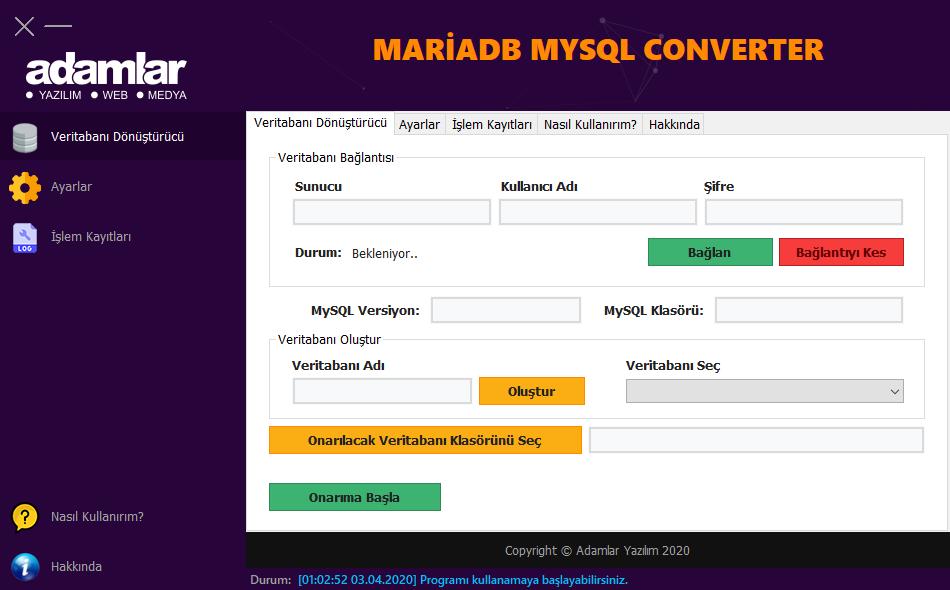MariaDB/MySQL Converter